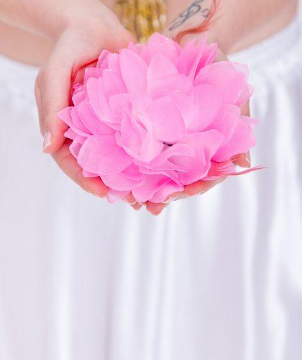 Blumen-Haarschmuck La Fleur - rosa