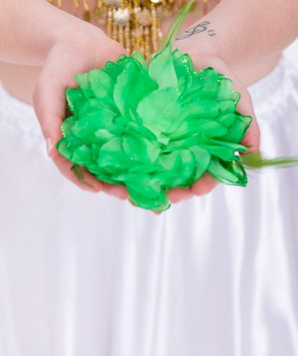 Blumen-Haarschmuck La Fleur - grün-0