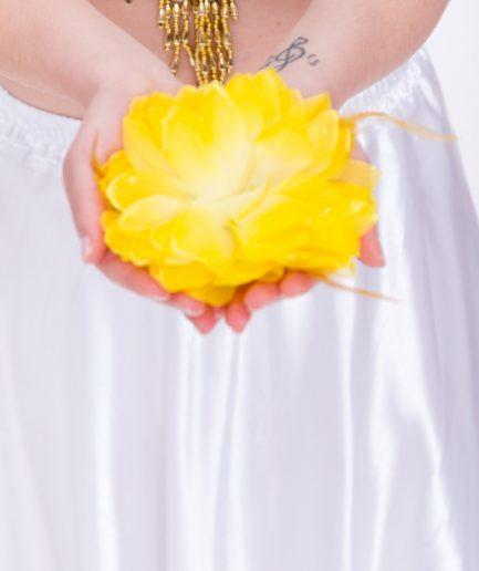 Blumen-Haarschmuck La Fleur - gelb