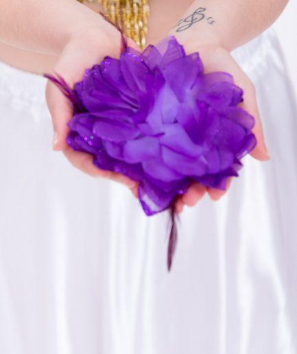 Blumen-Haarschmuck La Fleur - lila