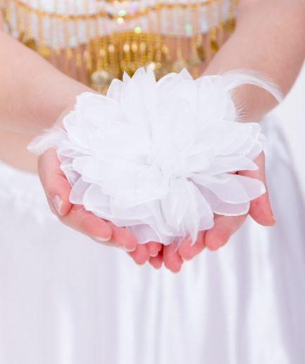 Blumen-Haarschmuck La Fleur - weiß