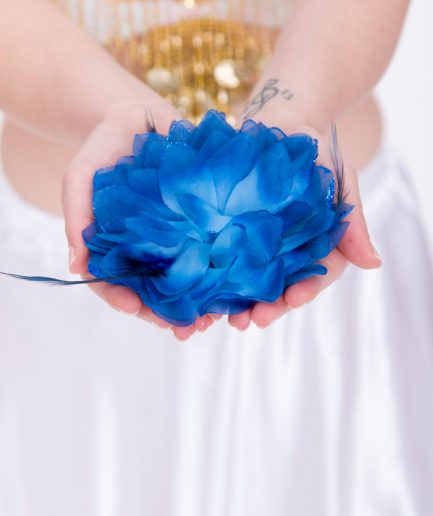 Blumen-Haarschmuck La Fleur - blau