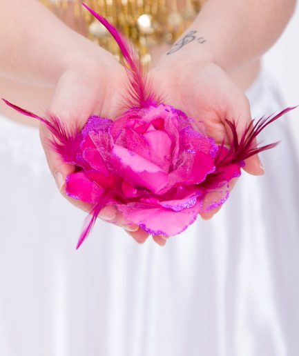 Blumen-Haarschmuck Gül - pink