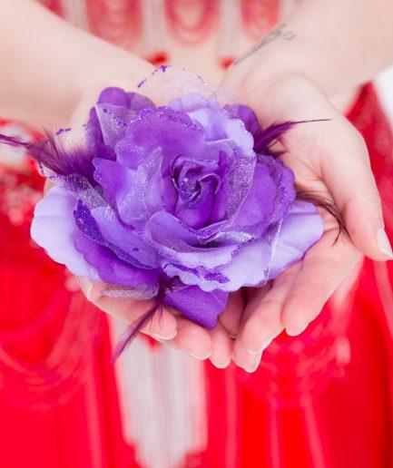 Blumen-Haarschmuck Gül - lila