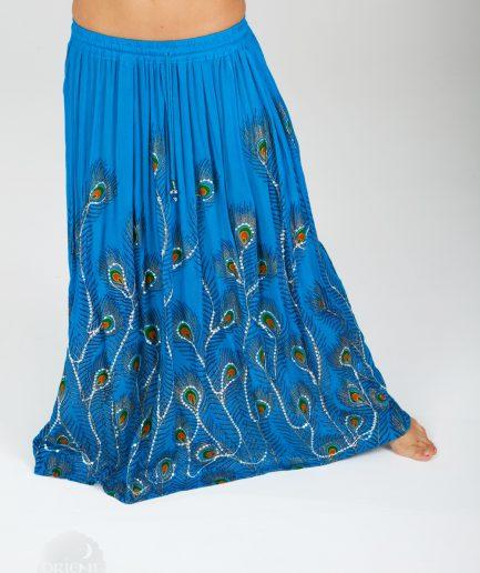 Indischer Tanzrock Peacock - Gr.34-44 - türkis