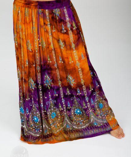 Indischer Tanzrock Tulip - Gr.34-44 - orange/lila
