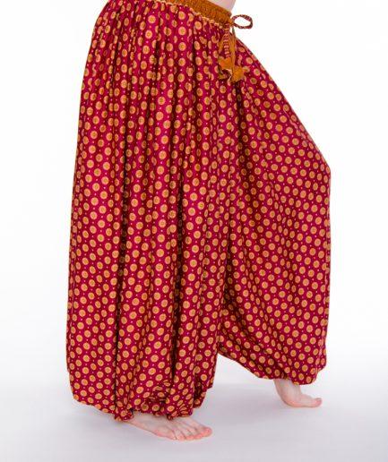 Pantaloon Rajasthan - Onesize - Dunkelrot/Zimt1