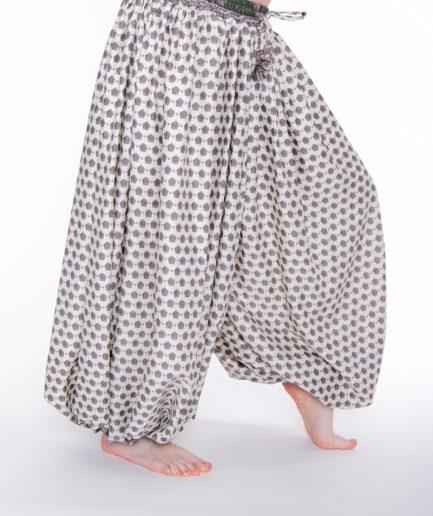 Pantaloon Jaipur - Onesize - Cremeweiss/Grün