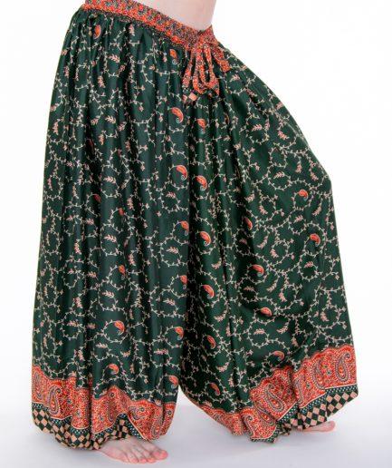 Pantaloon Paisley - Onesize - Dunkelgrün/Orange