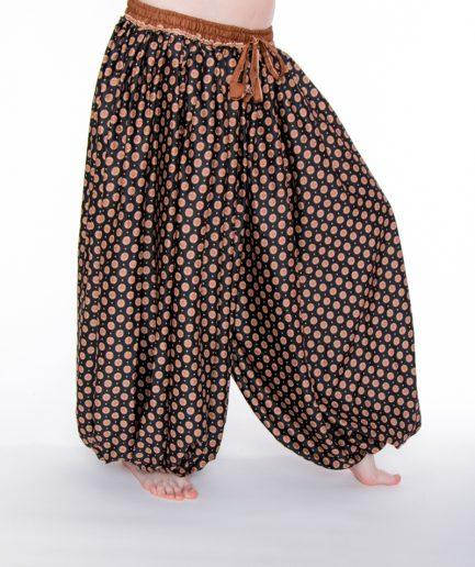 Pantaloon Rajasthan - Onesize -Schwarz/Zimt