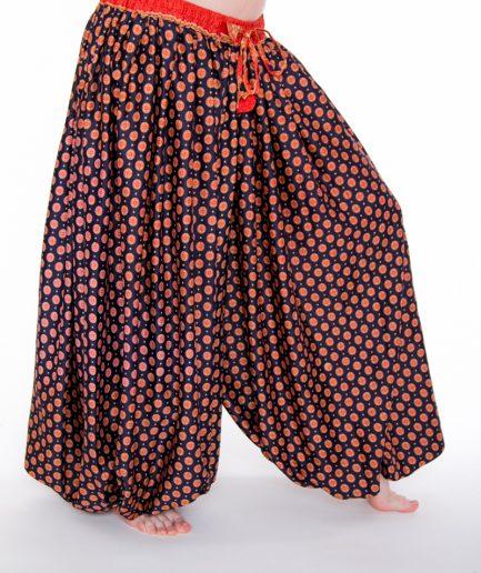 Pantaloon Rajasthan - Onesize -Dunkelblau/Orange