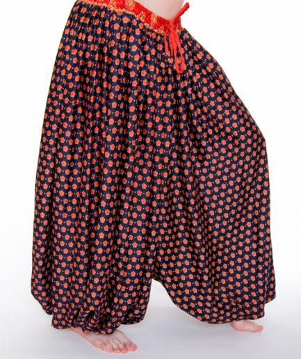 Pantaloon Jaipur - Onesize - Dunkelblau/Orange