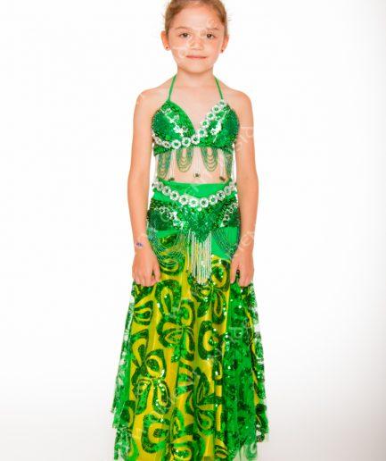 Kinder Bauchtanzkostüm Malaika - 8-12 J. - grün