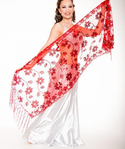 Orientalische Stola Florya - rot