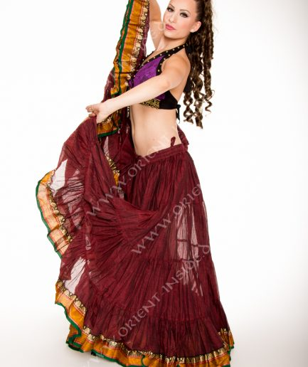 Tribal Rock 25 Yard - Anjana - Gr.34-50 - bordeaux mit Borte