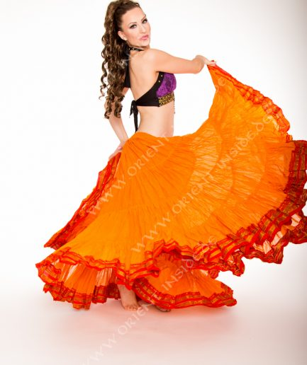 Tribal Rock 25 Yard - Anjana - Gr.34-50 - orange mit Borte