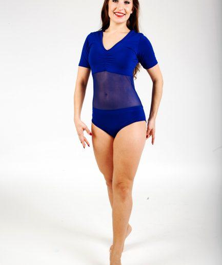 Body Mesh mit Bauchnetz - Gr.42-46 - blau