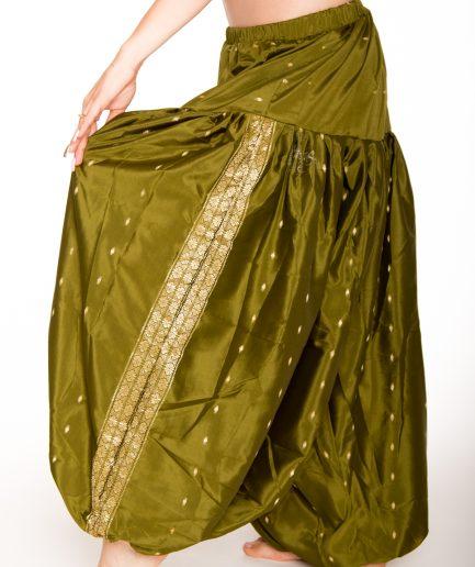 Sari Pantaloon Indira - Onesize - olivgrün