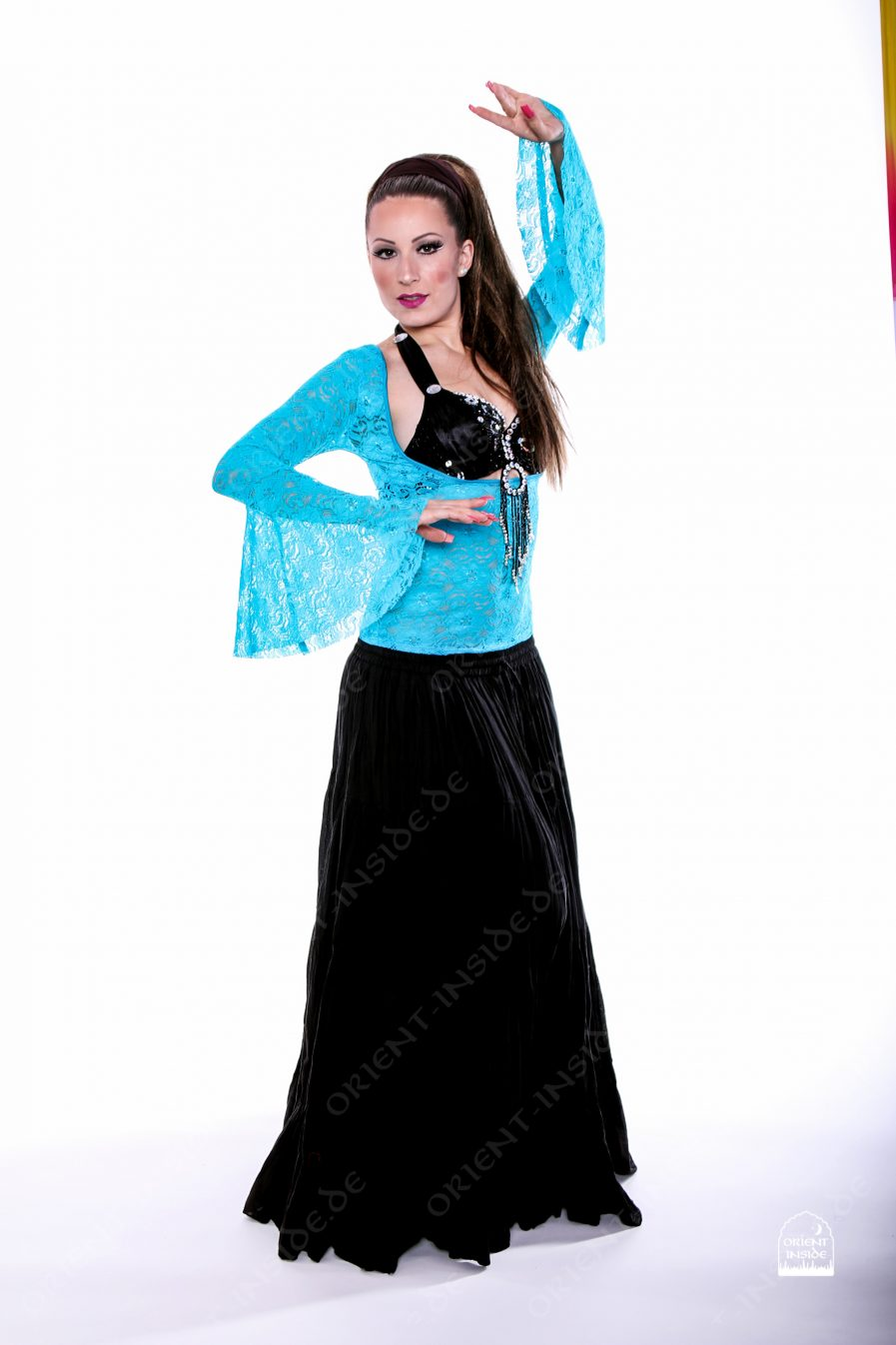 Bauchtanz Tribal BH- Top Lace - Gr.36-38 - türkis3