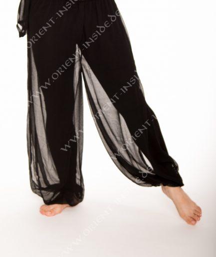 Bauchtanz Baladi Pumphose Pantaloon Shirin - Gr.34-42 - schwarz