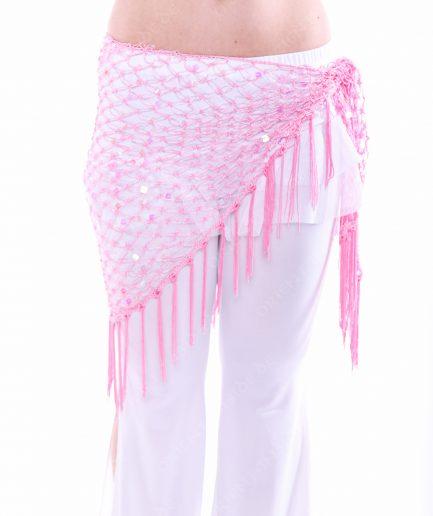 Bauchtanztuch Häkeltuch Sparkle Triangle - rosa