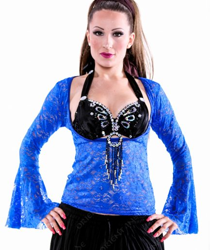 Bauchtanz Tribal BH-Top Lace - Gr.40 - blau