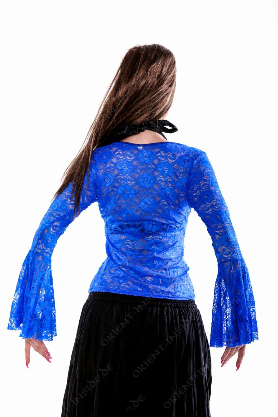 Bauchtanz Tribal BH-Top Lace - Gr.40 - blau3