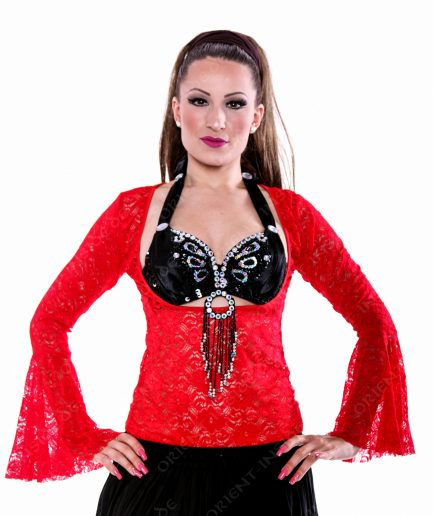 Bauchtanz Tribal BH-Top Lace - Gr.40 - rot