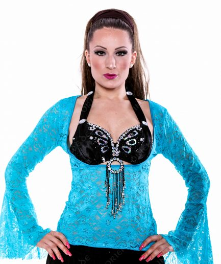 Bauchtanz Tribal BH-Top Lace - Gr.40 - türkis