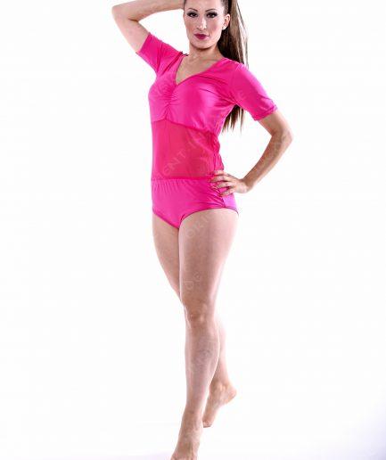 Body Mesh mit Bauchnetz - Gr.42-46 - pink