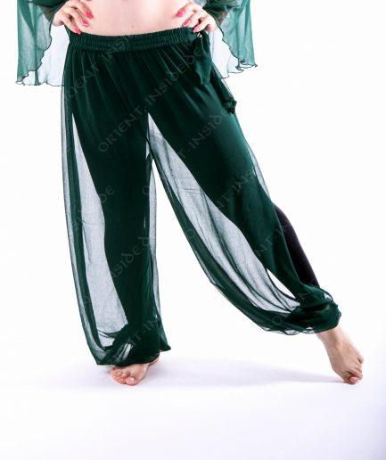 Bauchtanz Baladi Pumphose Pantaloon Shirin - Gr.34-42 - dunkelgrün