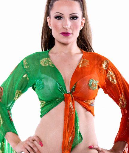 Bolero Bolly Dream - Gr.XS-S - orange/grün