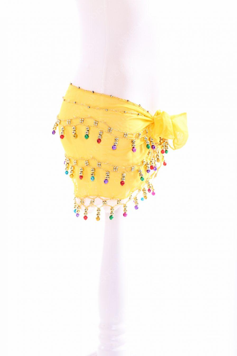 Kinder Hüfttuch Glöckchen - gelb2