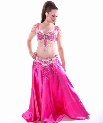 Bauchtanzkostüm Aphrodite - 3-tlg.- Gr. 34 - 38 - pink