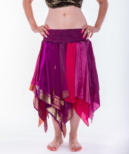 Indischer Bollywood Zipfelrock Deva - Gr.34-44 - pink
