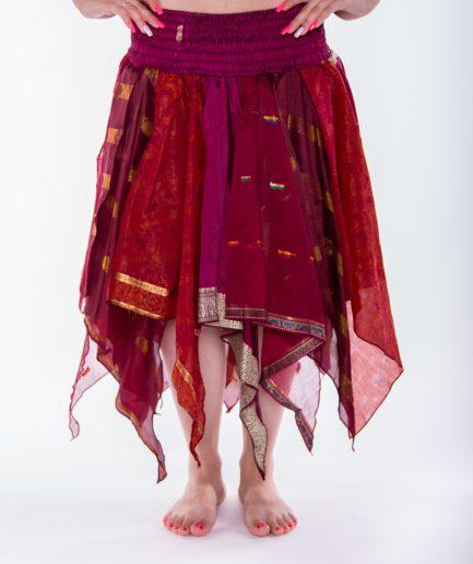 Indischer Bollywood Zipfelrock Deva - Gr.34-44 - bordeaux