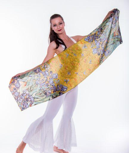 Damenschal aus 100% Seide Iris