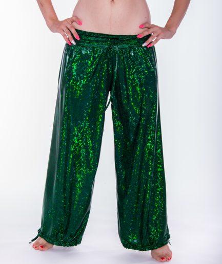 Bauchtanz Bollywood Pumphose Sparkle- Gr.34-40 - grün