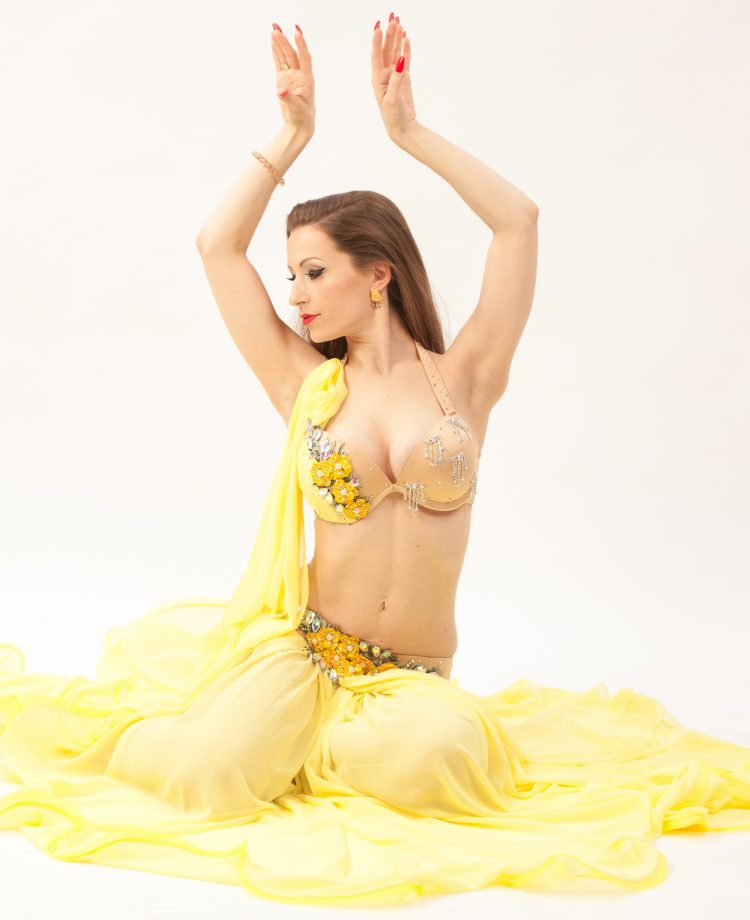Belly Dance Costume Amina - Gr. 34-38 - gelb3